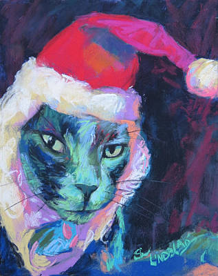 Christmas Time With Leo Art Print