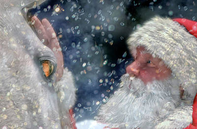 Father Christmas Digital Art - Christmas Touch by Betsy Knapp