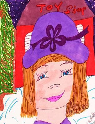 Store Fronts Mixed Media - Christmas Toy Shopping by Elinor Rakowski