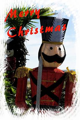 Mixed Media - Christmas Toy Soldier by Bob Pardue