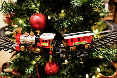 Photograph - Christmas Train by M G Whittingham
