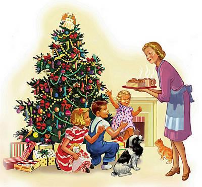 Christmas Treats Art Print by Valer Ian