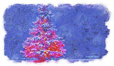 Vladimir Putin Painting - Christmas Tree 10 - Pa by Leonardo Digenio