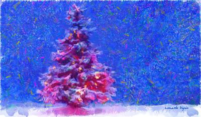 Vladimir Putin Painting - Christmas Tree 20 - Pa by Leonardo Digenio