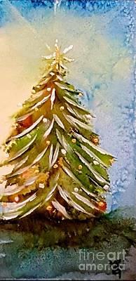 Navidad Painting - Christmas Tree 2016 by Marta Robin Gaughen