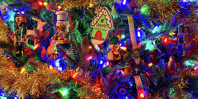 Digital Art - Christmas Tree 2018   by OLena Art Brand