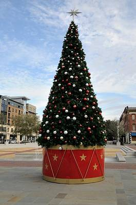 Photograph - Christmas Tree At City Market Savannah by Bradford Martin