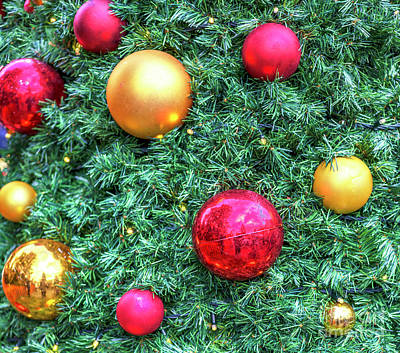 Photograph - Christmas Tree Balls In Prague Old Town Square by John Rizzuto