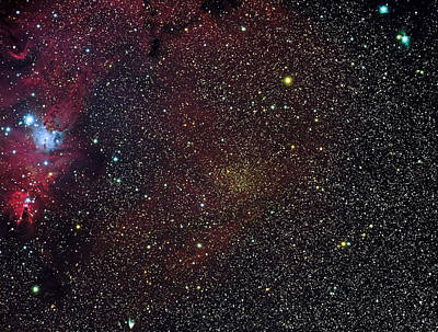Photograph - Christmas Tree Cluster And Fox Fur Nebula by Jim DeLillo