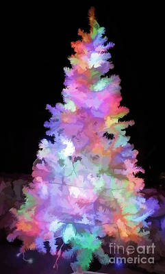 Holy Water Angel Photograph - Christmas Tree by D Hackett