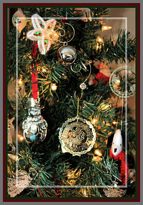 Photograph - Christmas Tree Decorations, Framed by Sandra Huston