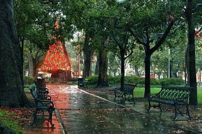 Photograph - Christmas Tree In Bienville Square Mobile Alabama by Michael Thomas