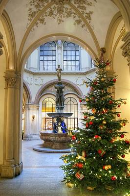 Photograph - Christmas Tree In Ferstel Passage Vienna by David Birchall