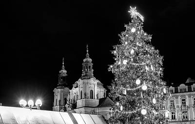 Photograph - Christmas Tree In Prague by John Rizzuto