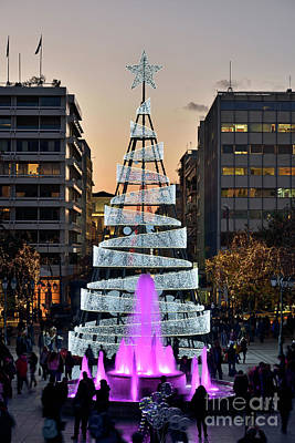 Photograph - Christmas Tree In Syntagma Square by George Atsametakis