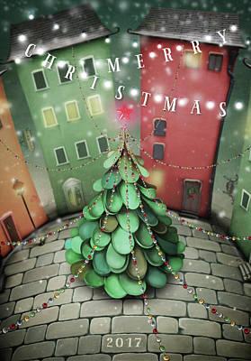 Manger Digital Art - Christmas Tree by Kathryn McBride