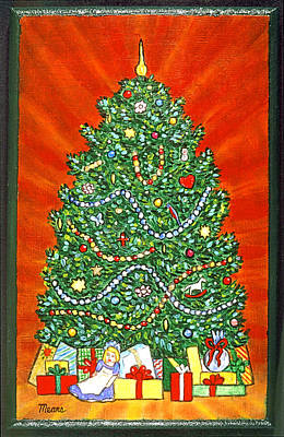 Trees Painting - Christmas Tree by Linda Mears