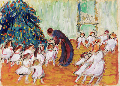 Celebrating Painting - Christmas Tree by Marianne von Werefkin