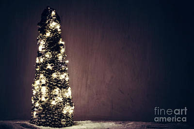 Photograph - Christmas Tree Ornament Wrapped With Lights. by Michal Bednarek