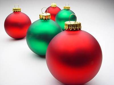 Photograph - Christmas Tree Ornaments by Utah Images