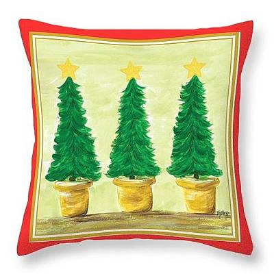 Painting - Christmas Tree Pillow Luke by Tay Morgan
