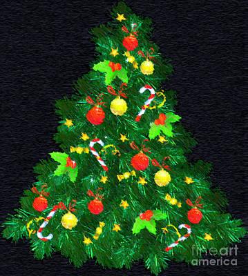 Digital Art - Christmas Tree by Rafael Salazar