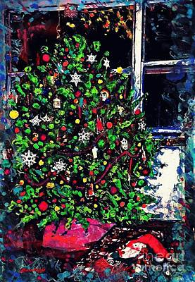 Religious Mixed Media - Christmas Tree by Sarah Loft