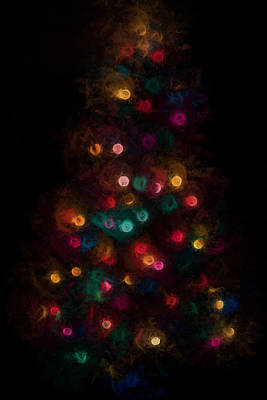 Photograph - Christmas Tree Splatter Paint Abstract by Terry DeLuco