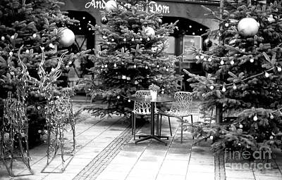 Photograph - Christmas Tree Table In Munich by John Rizzuto