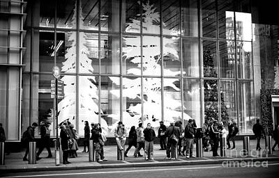 Photograph - Christmas Trees On 42nd Street by John Rizzuto