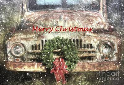 Photograph - Christmas Truck by Benanne Stiens