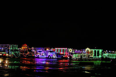 Photograph - Christmas Trucks by Perggals - Stacey Turner
