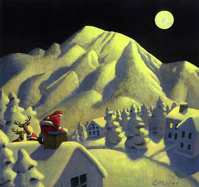 Wall Art - Painting - Christmas Under Olympus by Chris Miles