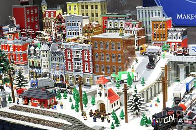 Photograph - Christmas Village by Frank Townsley
