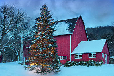 Photograph - Christmas Village - Kent Ct by Expressive Landscapes Fine Art Photography by Thom