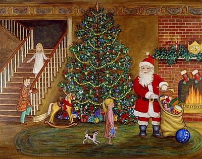 Santa Claus Painting - Christmas Visitor by Linda Mears