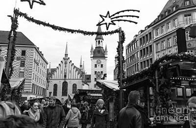 Photograph - Christmas Walk In Munich by John Rizzuto