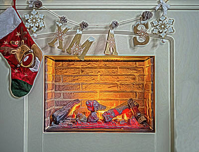 Christmas Warmth. Art Print