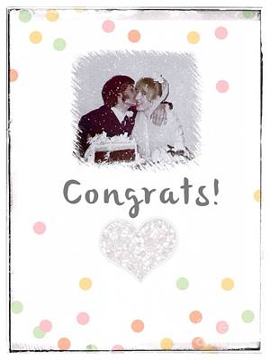 Photograph - Christmas Wedding Greeting by Joan-Violet Stretch