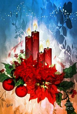 Digital Art - Christmas Wishes by Maria Urso