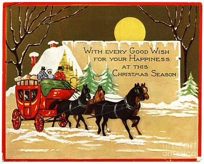 Painting - Christmas  With Every Good Wish For Your Happiness At This Christmas Season Vintage Victorian by R Muirhead Art