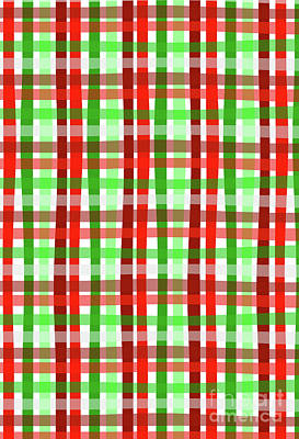 Digital Art - Christmas Wrap Check by Louisa Knight