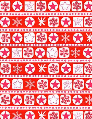 Wrap Digital Art - Christmas Wrap Stripe by Louisa Knight
