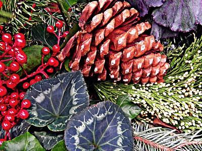 Christmas Wreath 2 Art Print