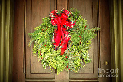 Photograph - Christmas Wreath At Batso Village by John Rizzuto