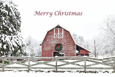 Photograph - Christmas Wreath Barn by Benanne Stiens