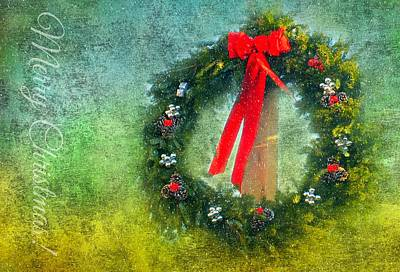 Photograph - Christmas Wreath by Diana Angstadt