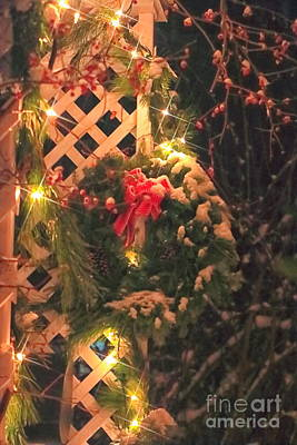 Bittersweet Photograph - Christmas Wreath by Elizabeth Dow