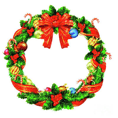 Digital Art - Christmas Wreath by Rafael Salazar
