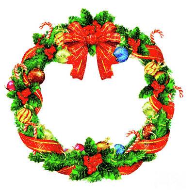 Digital Art - Christmas Wreath by Rafael Salazar